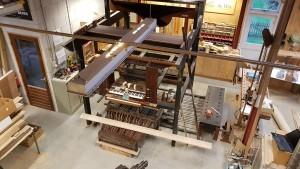 Harrison-orgel opgesteld in de werkplaats te Langbroek